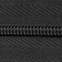 black polyester zipper chain