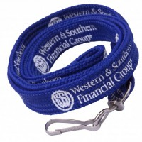 Printed promotional lanyard with metal snap hook