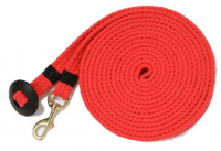 25ft. Flat cotton blend lung line with Brass plated bolt snap and rubber donut
