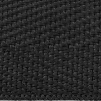 632 Black Woven Herringbone Polypropylene Tape Webbing