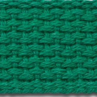 Kelly green cotton webbing