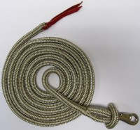 HTL Beige/Cream Horse Training Lead Polyester