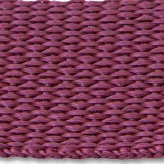 Maroon polypropylene webbing
