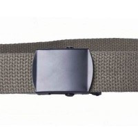Olive drab cotton webbing belt