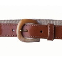 tan cotton elastic belt