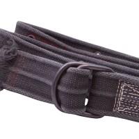 Distressed Black Webbing D Ring Belt