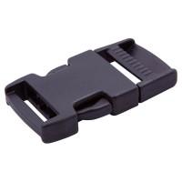 Black plastic side release buckle