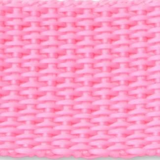 Pink polypropylene webbing