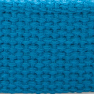 Turquoise cotton webbing