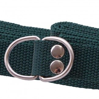 Green Webbing D Ring Belt