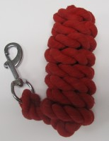 HLC Red Cotton Rope Lead with Bolt Snap