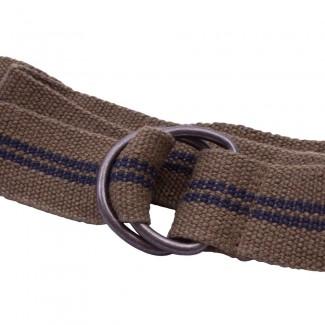 olive webbing d ring belt