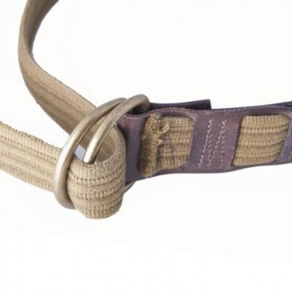 MR Ribbed Olive Webbing and Leather D-Ring Belt