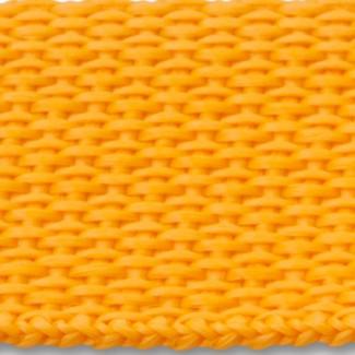 Gold polypropylene webbing