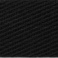 Black Cotton Webbing