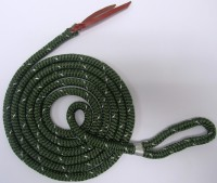 HTL Green/White Horse Training Lead Polyester, No Hardware