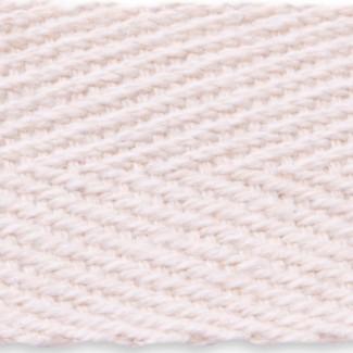 Natural herringbone cotton tape webbing