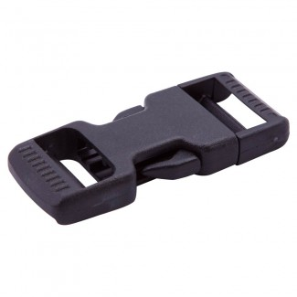 DSR Black Plastic Dual Side Release Buckle