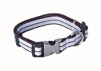 Bamboo webbing dog collar