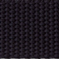 Black polypropylene webbing