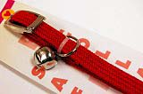 Braided elastic collar red