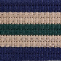 3R Navy Multi Striped Ribbed Cotton Webbing