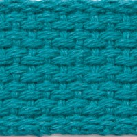 Teal cotton webbing