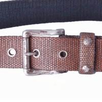 tobacco waxed cotton webbing belt