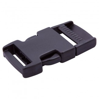 Black plastic side release buckle