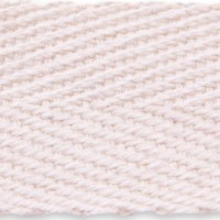 Natural herringbone cotton tape webbing