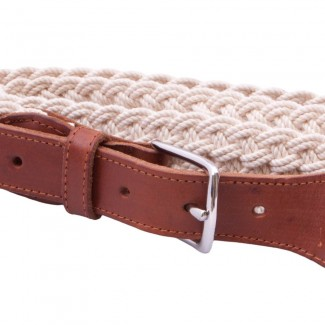 LR Natural Braided Rope Belt with Leather Details