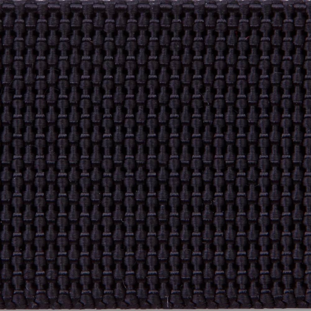 414 Black Woven Nylon Webbing Heavy Finish National