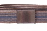 Blue and tan webbing belt