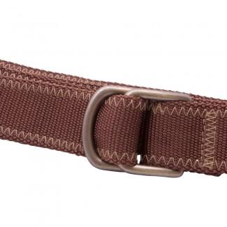 brown webbing d ring belt