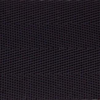 Black herringbone nylon webbing