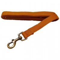 AL Sungold Dog Leash, 1-Inch by 5-Feet Organic Cotton Leash