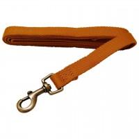 AL Sungold Dog Leash, 1-Inch by 5-Feet Organic Cotton Leash
