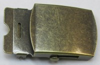 AA 250STAB Antique Brass Military Buckle