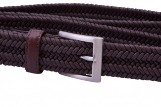 MR Brown Braided Belt with Leather Details