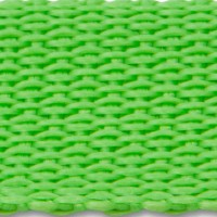 Lime green polypropylene webbing