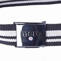 black and natural polyester webbing belt