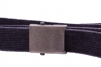 washed black webbing belt