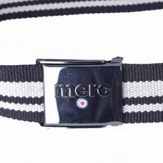 black and natural polyester webbing belt