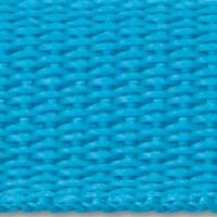 Turquoise polypropylene webbing