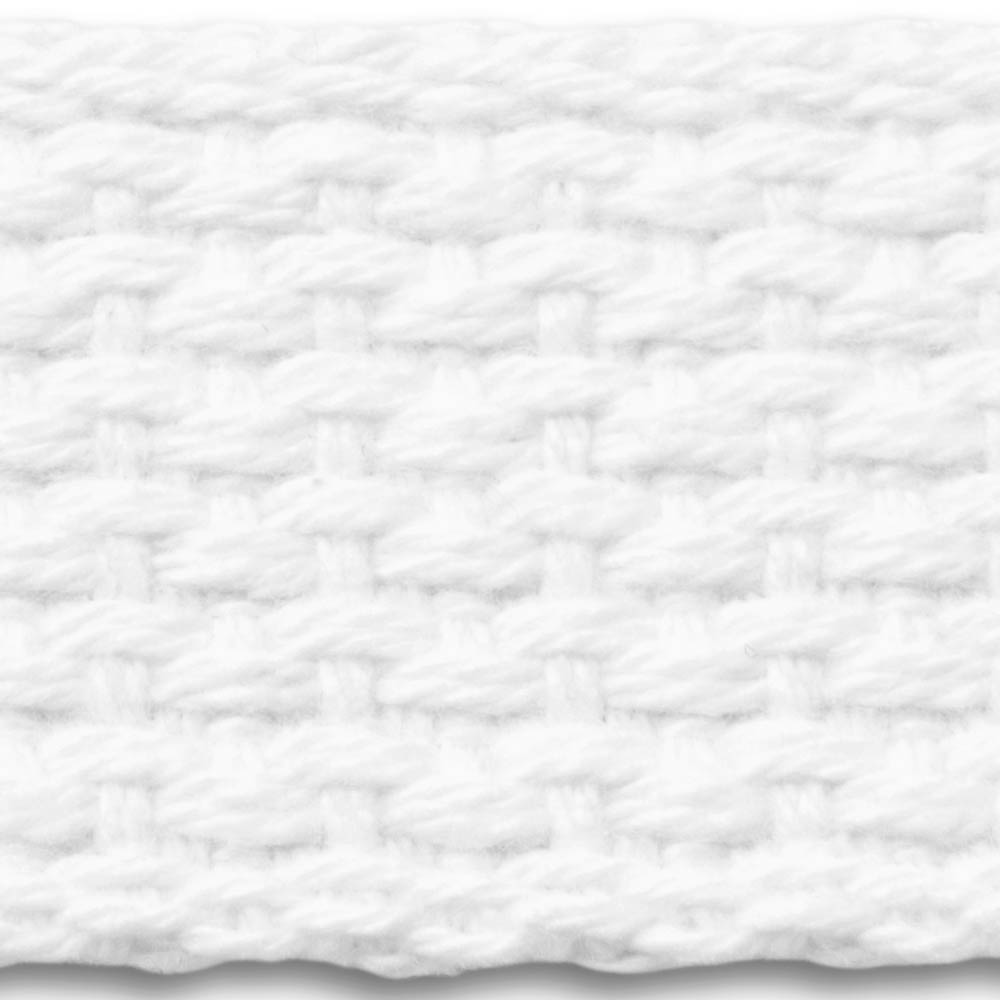 L Organic Pads >> 7L White Lightweight Cotton Webbing - National Webbing ...