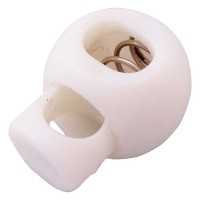 White plastic ball cord lock