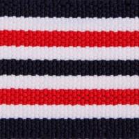 9 Rib Black Multi Striped Elastic