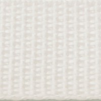 White polypropylene webbing