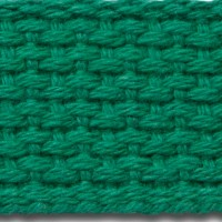 Kelly green cotton webbing