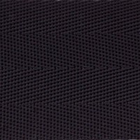 Black herringbone nylon webbing